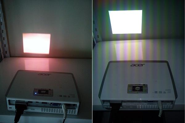 Projektor LED Acer objawy przegrzania